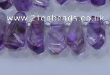 CTD3690 Top drilled 6*16mm - 10*25mm sticks amethyst beads