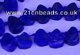 CTD3862 Top drilled 8*10mm - 10*12mm freeform lapis lazuli beads