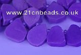 CTD3872 Top drilled 10*12mm - 14*16mm freeform kunzite beads