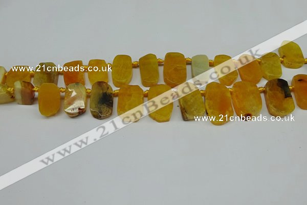 CTD4002 Top drilled 14*22mm - 22*42mm freeform agate gemstone beads