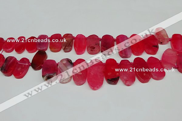 CTD4005 Top drilled 14*22mm - 22*42mm freeform agate gemstone beads