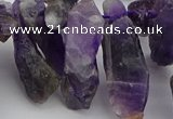 CTD427 Top drilled 8*25mm - 12*40mm nuggets amethyst beads