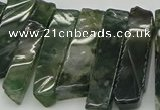 CTD434 Top drilled 10*25mm - 10*45mm sticks moss agate beads