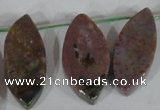 CTD46 Top drilled 12*23mm – 18*50mm marquise Indian agate beads