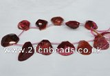 CTD506 Top drilled 25*30mm - 35*40mm freeform agate beads