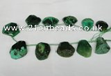 CTD508 Top drilled 25*30mm - 35*40mm freeform agate beads