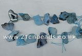 CTD517 Top drilled 15*25mm - 25*35mm freeform agate beads