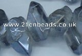 CTD544 Top drilled 10*15mm - 15*30mm nuggets plated quartz beads