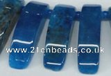 CTD600 Top drilled 10*30mm - 12*45mm wand agate gemstone beads