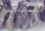 CTD620 Top drilled 12*22mm - 15*40mm nuggets amethyst beads