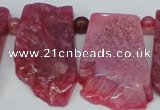 CTD658 Top drilled 25*40mm - 30*55mm freeform agate beads