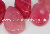 CTD686 Top drilled 18*25mm - 28*40mm freeform agate gemstone beads