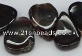 CTD697 Top drilled 18*25mm - 22*30mm freeform agate gemstone beads