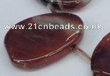 CTD700 Top drilled 30*40mm freeform agate gemstone beads