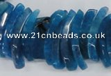 CTD722 Top drilled 12*25mm - 14*40mm wand agate gemstone beads