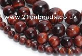 CTE01 15 inches round red tiger eye gemstone beads wholesale