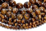 CTE02 15.5 inches round yellow tiger eye beads wholesale