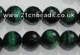 CTE1015 15.5 inches 12mm faceted round dyed green tiger eye beads