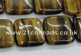 CTE106 15.5 inches 20*20mm square yellow tiger eye beads wholesale