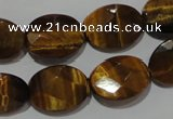 CTE1095 15.5 inches 13*18mm faceted oval yellow tiger eye beads