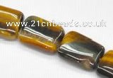 CTE11 15.5 inches 12*16mm rectangle yellow tiger eye  beads