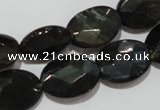 CTE1118 15.5 inches 13*18mm faceted oval blue tiger eye beads