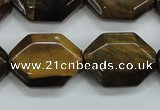 CTE112 15.5 inches 18*25mm octagonal yellow tiger eye beads wholesale