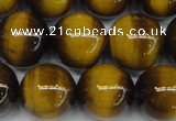 CTE1230 15.5 inches 14mm round A grade yellow tiger eye beads
