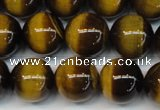 CTE1234 15.5 inches 6mm round A+ grade yellow tiger eye beads