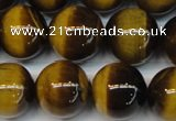CTE1238 15.5 inches 14mm round A+ grade yellow tiger eye beads
