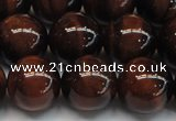 CTE1279 15.5 inches 12mm round A grade red tiger eye beads