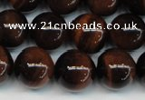 CTE1285 15.5 inches 8mm round A+ grade red tiger eye beads