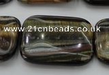 CTE1384 15.5 inches 30*40mm rectangle yellow & blue tiger eye beads