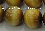 CTE1408 15.5 inches 20mm round golden tiger eye beads wholesale