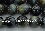 CTE1451 15.5 inches 6mm round golden & blue tiger eye beads