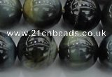 CTE1455 15.5 inches 14mm round golden & blue tiger eye beads