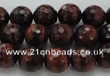 CTE1462 15.5 inches 8mm faceted round red tiger eye beads
