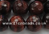 CTE1467 15.5 inches 18mm faceted round red tiger eye beads