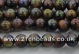 CTE1500 15.5 inches 4mm round AB-color yellow tiger eye beads