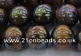 CTE1504 15.5 inches 12mm round AB-color yellow tiger eye beads