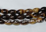 CTE157 15.5 inches 6*8mm rice yellow tiger eye gemstone beads