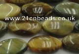 CTE1570 15.5 inches 11*18mm marquise golden & blue tiger eye beads