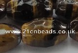 CTE1585 15.5 inches 18*25mm faceted rice yellow tiger eye beads