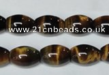 CTE160 15.5 inches 13*18mm rice yellow tiger eye gemstone beads