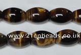 CTE161 15.5 inches 12*20mm rice yellow tiger eye gemstone beads