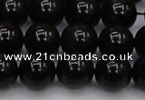 CTE1614 15.5 inches 12mm round A grade black tiger eye beads