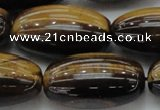 CTE1705 15.5 inches 16*30mm rice yellow tiger eye beads