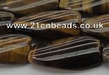 CTE1744 15.5 inches 15*30mm twisted rectangle yellow tiger eye beads