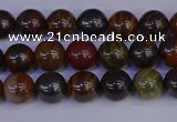 CTE1790 15.5 inches 4mm round red iron tiger beads wholesale