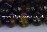 CTE1805 15.5 inches 14mm round blue iron tiger beads wholesale